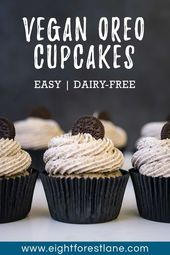 Cookies and Cream Cupcakes (Vegan) – Eight Forest Lane