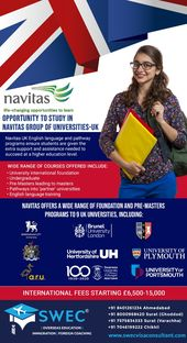 Opportunity to study in Navitas group of universities – UK  Navita UK English language and pathway p…