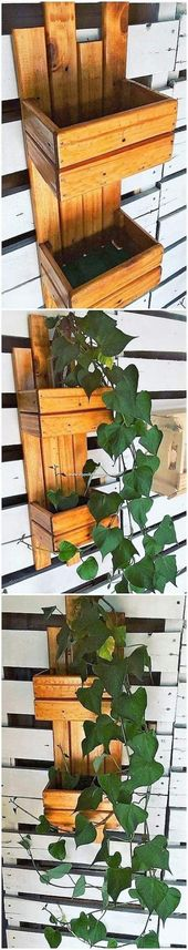 42+ Ideas For Old Wood Box Diy Pallet Planters #di…
