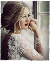 Einfache und charmante Brautfr – #Frisurenhalboffe…