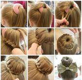 25 quick hairstyles for medium and long hair for every day. #Dresses #ha …