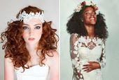 Penteados para noivas de cabelos cacheados – Constance Zahn