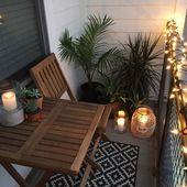 Tipps zum Dekorieren eines kleinen Apartment-Balkons – #apartment #balcony #Decorate … – DIY Blumen