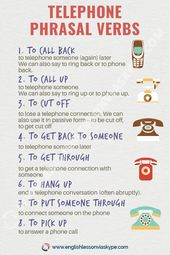 Listing of English Phone Phrasal Verbs – English Lesson by way of Skype