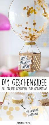 Geburtstagsgeschenke selber machen: Drei DIY Ideen • www.sammydemmy.de