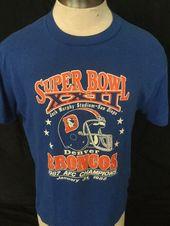 11aed67e291 Vintage 1980 s San Francisco Denver Broncos Joe Montana John Elway Super  Bowl 50 50 T-Shirt