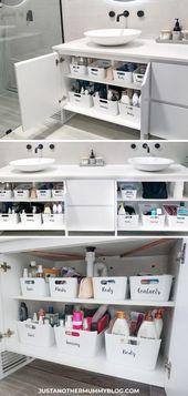 So organisieren Sie Ihren Badezimmerschrank
