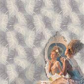 Bay Isle Home Byxbee Feather 33′ L x 20.5″ W Wallpaper Roll   Wayfair