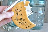 Moon and Star Salt Dough Ornament Love You to the …