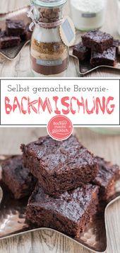 Backmischung im Glas für Brownies – Geschenke aus der Küche Rezepte