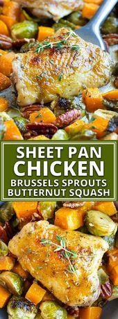 Maple Glazed Oven Baked Chicken Thighs & Veggies