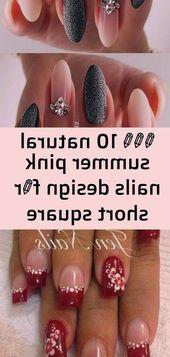💜💜💜 10 natürliche Sommer rosa Nägel Design für kurze quadratische Nägel 💜💜💜 3   – Christmas Nails