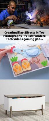 Explosionseffekte in der Spielzeugfotografie erzeugen! – #followForMore #Tech #videos #gamin …   – Toy