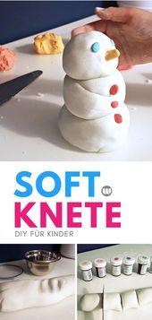 Weiße Softknete selber machen (Speisestärke und Natron)