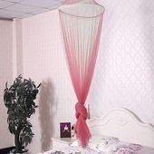 Universelle elegante runde Spitze-Insekten-Bett-Überdachungs-Filetarbeits-Vorhang-Hauben-Polyester-Bettwäschemoskito   – Products