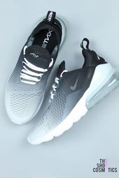 CUSTOM NIKE AIR MAX BLACK AND WHITE OMBRE …