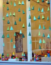 Window Decorations for Christmas : Mignon fenêtre de décoration de bricolage s…