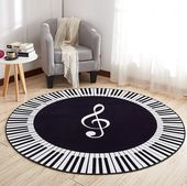 Piano CL260725MD Round Carpet | Indoor Circular Round Rug | 3 ft 4 ft 5 ft | Fla…