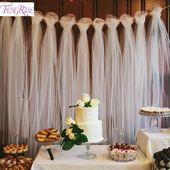 Kaufen FENGRISE 100 Yards Tüll Hochzeit Hintergrund Hochzeit Dekoration 15 cm Tulle Rolle Zeremonie Im Freien Fotografie Geburtstag Party Decor