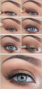 Fashion & Beauty Schöne Make-up-Inspirationen für schöne blaue Augen … #bea … – a …   – augen make up anleitung