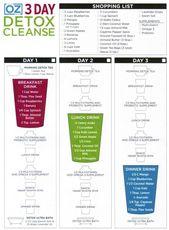 3-tägige Dr. Oz Entgiftungsreinigung – die gut für Ihren Körper ist, ist auch gut …   – Detox Ideen