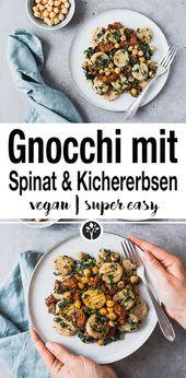 Gnocchi mit Spinat und Kichererbsen