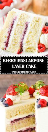 BERRY MASCARPONE LAYER CAKE – #recipes – Essen & Trinken – Gesund und lecker?! eat and drink – healthy and tasty!