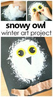 Snowy Owl Winter Stil Project pro Kinder #artforkids #kidsactivities #prek – Kunst
