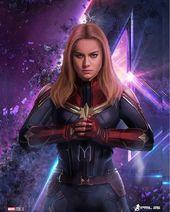 """Brie Larson Captain Marvel Fan on Instagram: """"Sick Avengers Endgame artwork🔥😊"""""""