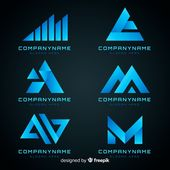 Download Gradient Technology Logo Template Collection for free