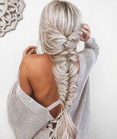 28 süße einfache Frisuren für langes Haar – Frisur – #einfache # Frisuren …   – Adelinas beste Frisuren