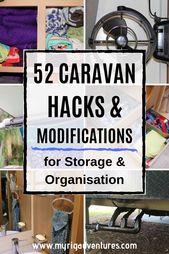 52 Caravan HACKS & MODIFICATIONS for Storage & Organisation