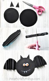 Einfacher Akkordeon Fold Paper Bat Craft – Micha