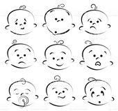 Baby Ilustration cartoon baby Gesicht Lizenzfreies vektor illustration