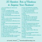 Random Acts of Kindness to Surprise Your Husband