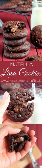 Rezept für die am besten gefüllten Nutellla-Lava-Kekse // beste Nuetalla-Lava-Kekse   – Nutella