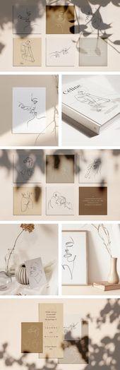Illustrator Business Card Elegant one line sketches by William Hansen.