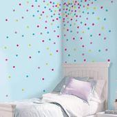 Roommates Glitter Confetti Dot Wall Decals – decoração de quarto