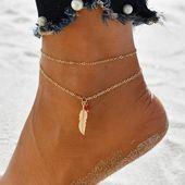 Böhmische Perlen Fußkettchen Runde Quaste Vintage Fußschmuck
