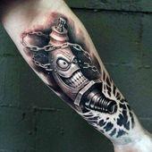 70 Spark Plug Tattoo Designs für Männer – Cool Combustion Ink – #Combustion #c…
