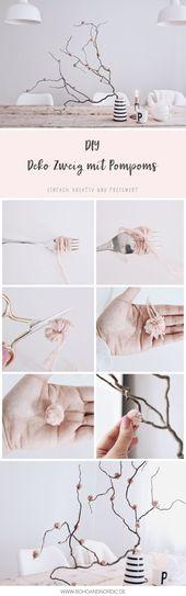 DIY Deko mit Pompoms