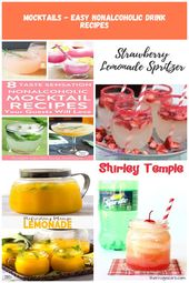Easy nonalcoholic drinks recipes for delicious mocktails for party guests who ar…   – accessoires-pour-la-maison