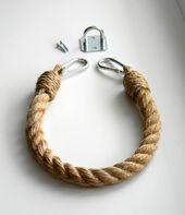 Help de corde de papier hygiénique.. Décor industriel.. Porte-rouleau de toilette.. Jute corde décor nautique.. Décor de salle de bain.. Porte-serviette