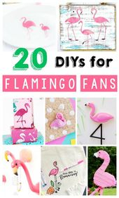 20 DIY Flamingo Craft Ideas. | Flamingos | DIY | C…