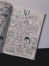 Bullet Journal zitiert Seite – Brenda O.