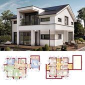 Modernes Haus Design mit Satteldach & 5 Zimmer Gru…