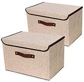 Amazon.com – Storage Field with Lids and Handles [2-Park] Thickening Linen Cloth …  Amazon.com – St…