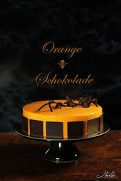 Orangentorte with chocolate cake and gloss glaze
