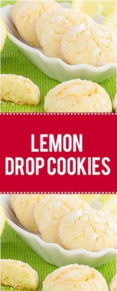 THESE LEMON DROP COOKIES HAVE A RATHER UNCONVENTIONAL TOPPING   – backen