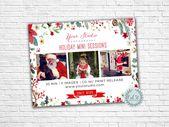 Holiday Photographer Marketing Flyer by oakstdesignstudio on Creative Market
